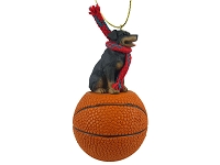 Rottweiler Basketball Ornament