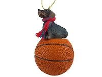 Wire Haired Dachshund Basketball Ornament
