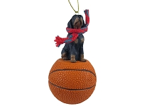 Coonhound Black & Tan Basketball Ornament