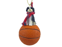 Shih Tzu Black & White w/Sport Cut Basketball Ornament