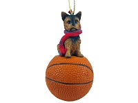 Yorkshire Terrier Puppycut Basketball Ornament