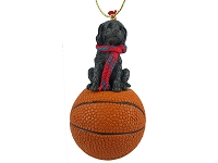 Labradoodle Chocolate Basketball Ornament