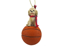 Cockapoo Blond Basketball Ornament