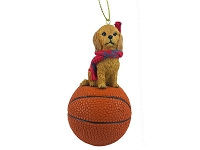 Goldendoodle Basketball Ornament
