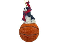 Cocker Spaniel Black & White Basketball Ornament