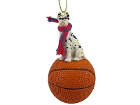 Great Dane Harlequin Basketball Ornament