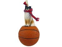 Sheltie Tricolor Basketball Ornament