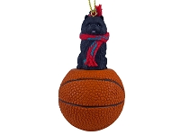 Chow Black Basketball Ornament