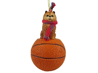 Chow Red Basketball Ornament