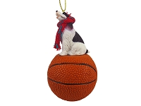 Springer Spaniel Liver & White Basketball Ornament