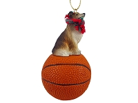 Collie Sable Basketball Ornament