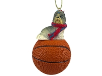 Shih Tzu Mixed Basketball Ornament