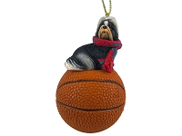 Shih Tzu Black & White Basketball Ornament