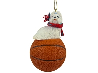 Shih Tzu White Basketball Ornament