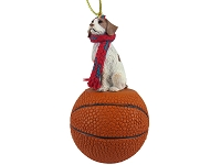 Brittany Brown & White Spaniel Basketball Ornament