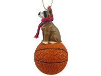 Boxer Basketball Ornament