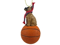 Boxer Tawny Basketball Ornament