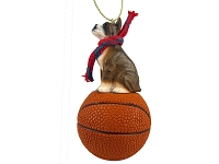 Boxer Brindle Basketball Ornament