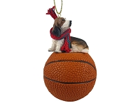 Basset Hound Basketball Ornament
