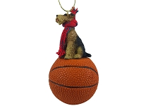 Airedale Basketball Ornament