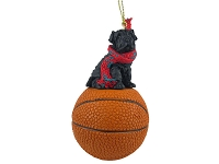 Shar Pei Black Basketball Ornament