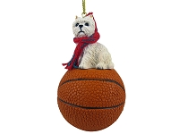 West Highland Terrier Basketball Ornament