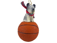 Skye Terrier Basketball Ornament