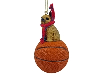 Brussels Griffon Red Basketball Ornament