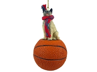 Norwegian Elkhound Basketball Ornament
