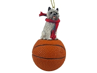 Cairn Terrier Gray Basketball Ornament