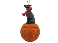 Greyhound Brindle Basketball Ornament