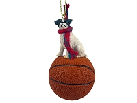 Jack Russell Terrier Brown & White w/Rough Coat Basketball Ornament