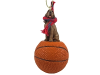 Bloodhound Basketball Ornament