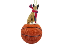 Basenji Basketball Ornament