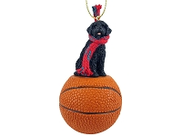 Portuguese Water Dog Basketball Ornament
