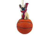 French Bulldog Fawn Basketball Ornament