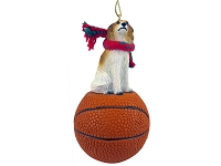 Borzoi Basketball Ornament