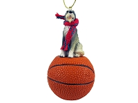 Irish Wolfhound Basketball Ornament