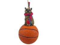 Norwich Terrier Basketball Ornament