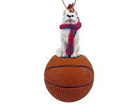 American Eskimo Basketball Ornament