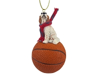 English Setter Belton Orange Basketball Ornament
