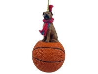 Bullmastiff Basketball Ornament