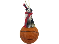 Australian Shepherd Tricolor Basketball Ornament
