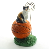 Calico Shorthaired Basketball Memo Holder