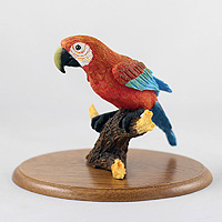 Parrot Red Figurine