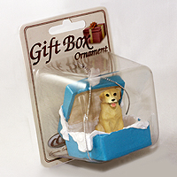Ornament Gift Box Blue Dogs