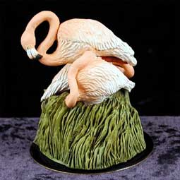 Flamingos Figurine (Black Base)
