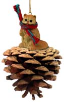 Red Persian Pinecone Pet Ornament