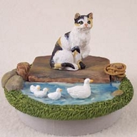 Calico Shorthaired Tabby Candle Topper Tiny One