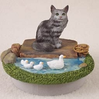 Silver Tabby Maine Coon Candle Topper Tiny One